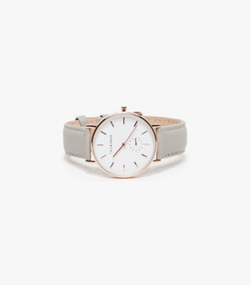 Beige Leather Watch